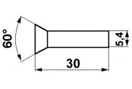 340601X1  Заклепка плоская  5.4x30
