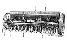 580 Сеялка тракторная Б/У 24 -ряда